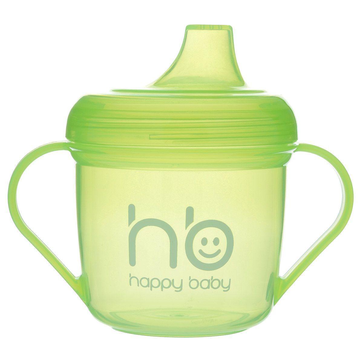 Поильник Happy Baby, от 6 месяцев, цвет: салатовый, 170 мл