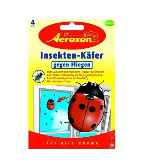 Декоративная приманка Aeroxon Божья коровка для ловли мух, 4 шт28460Декоративная приманка Aeroxon, выполненная в виде божьей коровки, предназначена для ловли мух. Приманка наклеивается на внутреннюю сторону окна. Действующее вещество Азаметифос является фосфорорганическим соединением и обладает быстрым инсектицидным эффектом. Не имеет запаха. После удаления не оставляет следов на стекле.