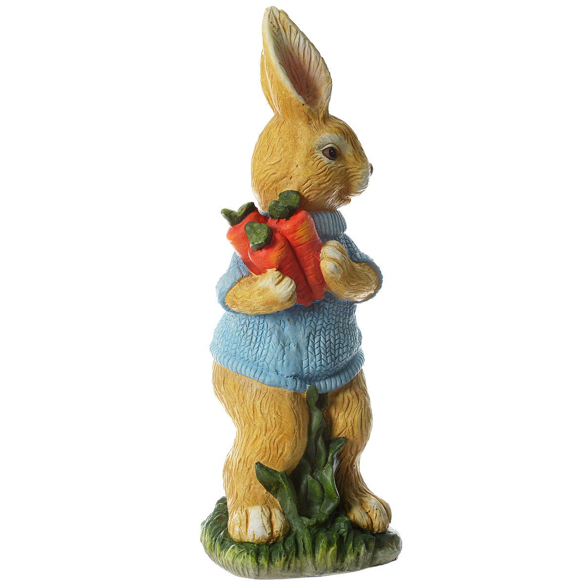 Фигурка садовая Village People Кролик с урожаем, высота 66 см67365_1Фигурка садовая Village People выполнена из полирезины в виде кролика с морковками, одетого в голубую кофточку. Такая фигурка украсит ваш сад и добавит в него ярких красок. Вы можете поместить ее в любом месте сада. Прочная и износостойкая фигурка будет радовать вас много лет.