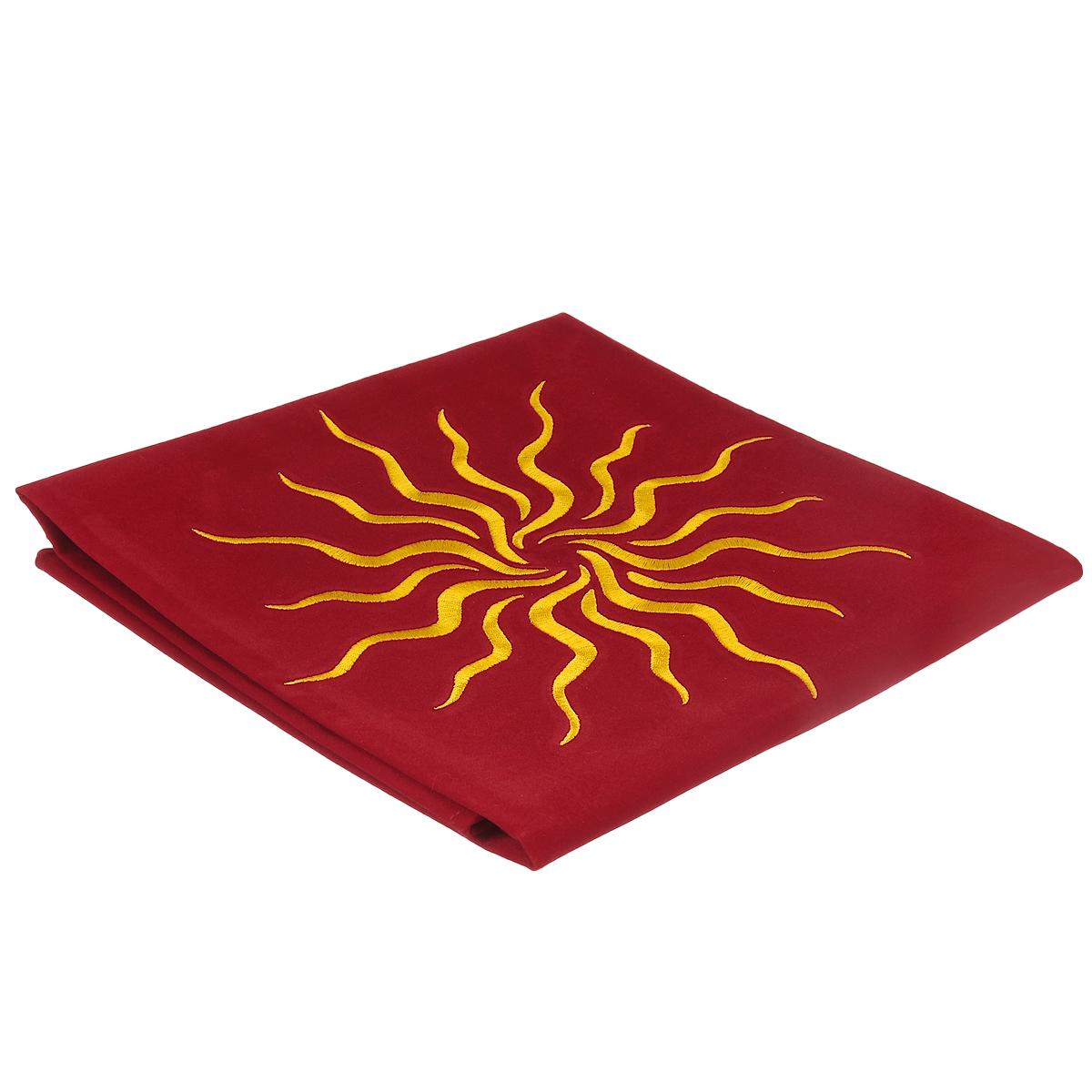 Скатерть для раскладывания карт Lo Scarabeo Солнце, цвет: красный. TP09