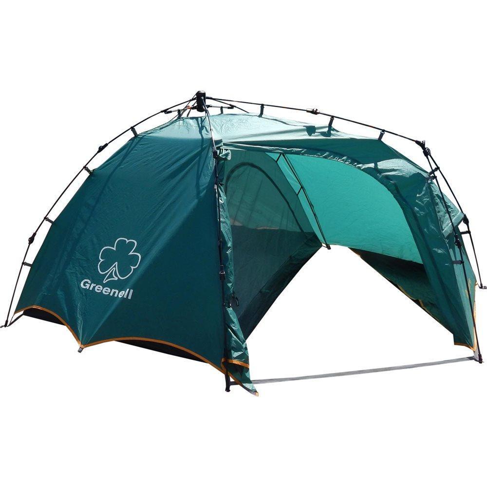 Палатка GREENELL Огрис 2, полувтоматическая, цвет: зеленый95465-325-00Удобная двухместная полуавтоматическая палатка Greenell Огрис 2 с большим тамбуром. Специальная конструкция тамбура, позволяет разместить в нем рюкзаки, обувь. Максимальная вентиляция обеспечивается за счет внутренней палатки, которая полностью выполнена из москитной сетки, специального кроя тента и вентиляционных каналов в тенте палатки. Внутри достаточно комфортно находится, есть карманы для мелочей, подвесная полка, кроме того все швы проклеены, и это только усиливают конструкцию. Вместе с данной палаткой можно купить отличный Ремкомплект №1. Только в нашем интернет- магазине имеется огромный выбор автоматических палаток различных размеров и модификаций! Технические характеристики: Вместимость (человек): 2 Материалы каркаса: Fiberglass 8,5 мм Ткань тента: Poly Taffeta 190T PU 3000 Ткань пола: Tarpauling Водостойкость тента (мм/в.ст.): 3 000 Габаритные размеры сумки: 77 х 20 х 20 Размеры внешней палатки (ДхШхВ):...