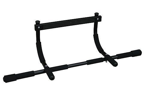 Турник в дверной проем Iron Gym, цвет: черный, 93,5 см х 41 см х 22 смIron GymТурник Iron Gym может быть установлен как в верхней, так и в нижней части двери, а так же на полу. Предназначен для подтягивания, отжимания, накачивания пресса, тренировки мышц рук и плеч, выполнения любых упражнений, необходимых для укрепления всех групп мышц. Прочная конструкция обеспечивают максимальную нагрузку на турник до 100 кг. Мягкие ручки идеально подходят по диаметру захвата, чтобы предотвратить соскальзывание руки во время тренировки. Выполнение упражнений на турнике позволяет комплексно тренировать мышцы плечевого пояса и мышцы верхней части тела. Сборка турника возможна в любом помещении, он не займет много места и станет отличной альтернативой другим спортивным снарядам. Благодаря нескольким видам захвата предоставляется разнообразие выполняемых упражнений. При сочетании упражнений всех хватов позволяет комплексно тренировать мышцы плечевого пояса и мышцы верхней части тела. Расстояние от стены до ручки внешнего захвата предотвращает возможные...