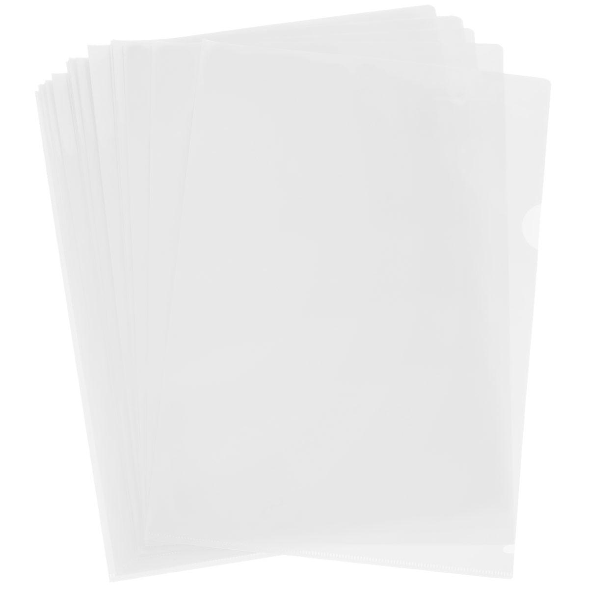 Папка-уголок Sponsor, цвет: прозрачный. Формат А4, 20 штSF208-2/TR/RПапка-уголок Sponsor, изготовленная из высококачественного полипропилена, это удобный и практичный офисный инструмент, предназначенный для хранения и транспортировки рабочих бумаг и документов формата А4. Полупрозрачная глянцевая папка имеет опрятный и неброский вид. В наборе - 20 папок. Папка-уголок - это незаменимый атрибут для студента, школьника, офисного работника. Такая папка надежно сохранит ваши документы и сбережет их от повреждений, пыли и влаги. Комплектация: 20 шт.