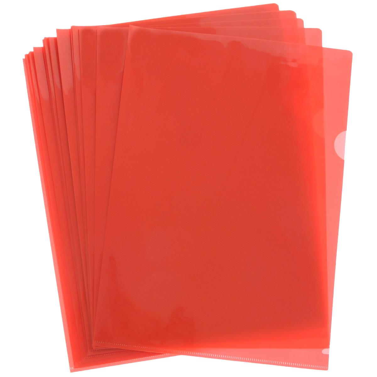 Sponsor Папка-уголок цвет красный 20 штSF208-2/RD/RПапка-уголок Sponsor, изготовленная из высококачественного полипропилена - это удобный и практичный офисный инструмент, предназначенный для хранения и транспортировки рабочих бумаг и документов формата А4. Полупрозрачная глянцевая папка имеет опрятный и неброский вид. В наборе - 20 папок. Папка-уголок - это незаменимый атрибут для студента, школьника, офисного работника. Такая папка надежно сохранит ваши документы и сбережет их от повреждений, пыли и влаги.