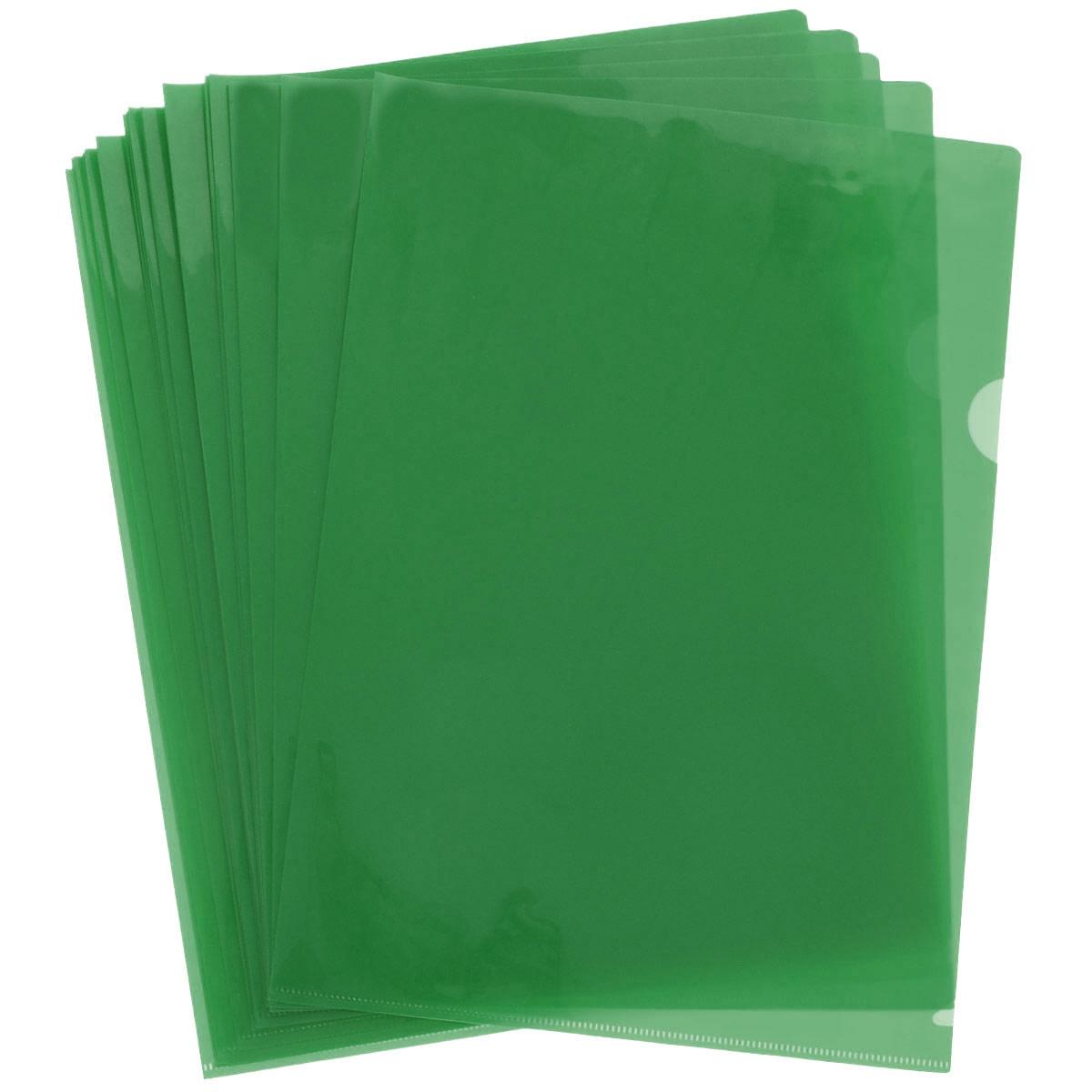 """Папка-уголок """"Sponsor"""", цвет: зеленый. Формат А4, 20 шт SF208-2/GR/R"""