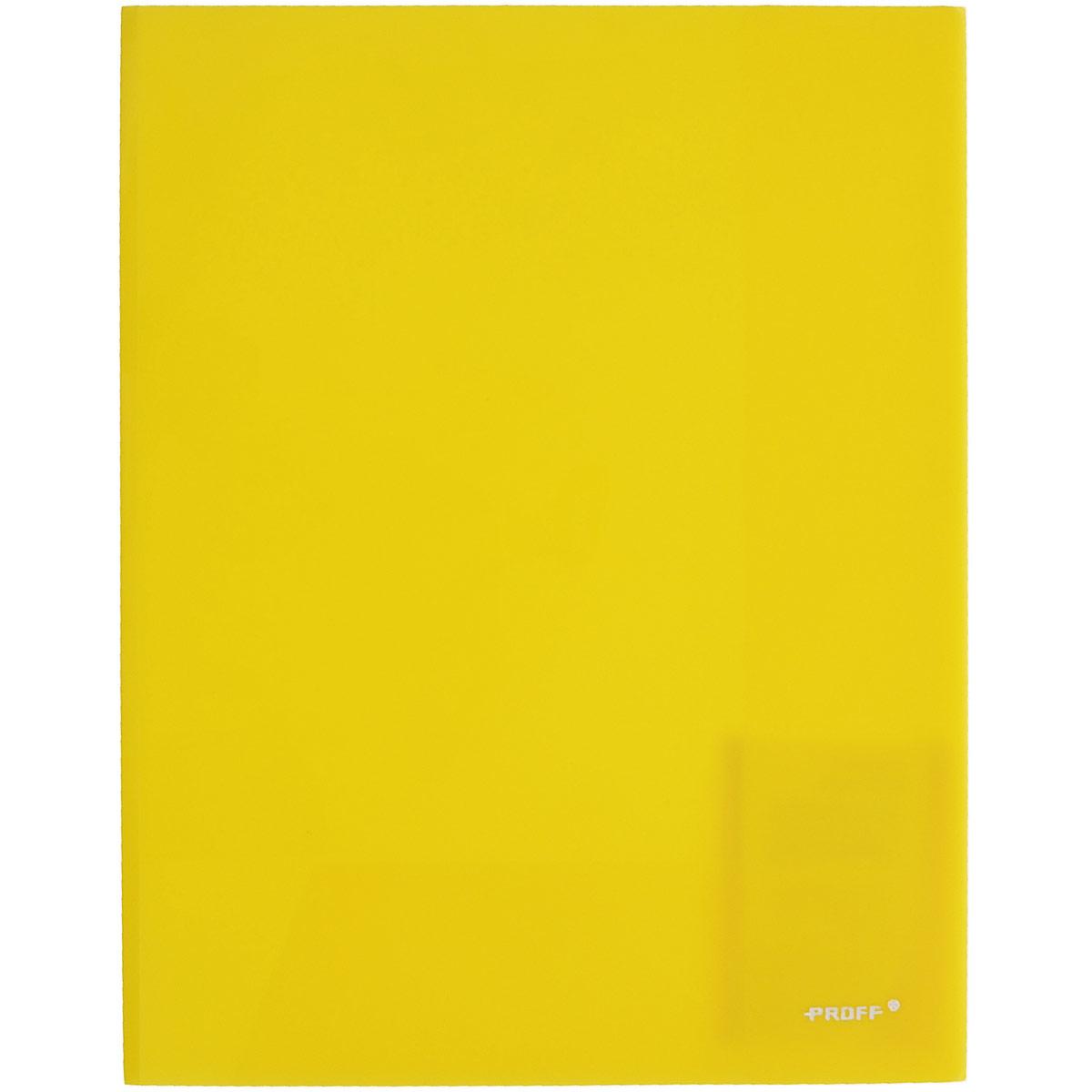 Proff Папка-уголок цвет желтый 2 клапанаE311A/30-TF-02Папка-уголок Proff, изготовленная из высококачественного полипропилена -это удобный и практичный офисный инструмент, предназначенный для хранения и транспортировки рабочих бумаг и документов формата А4. Полупрозрачная папка оснащена двумя клапана внутри для надежного удержания бумаг. Папка-уголок - это незаменимый атрибут для студента, школьника, офисного работника. Такая папка надежно сохранит ваши документы и сбережет их от повреждений, пыли и влаги.