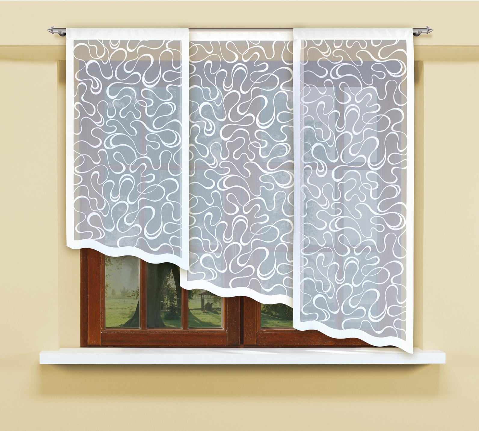 Комплект гардин Haft, на кулиске, цвет: белый, 3 шт. 207750207750/160Воздушные гардины Haft великолепно украсят любое окно. Комплект состоит из трех гардин, выполненных из полиэстера. Изделие имеет оригинальный дизайн и органично впишется в интерьер помещения. Комплект крепится на карниз при помощи кулиски. Размеры гардин: 160 х 60 см; 140 х 60 см; 120 х 60 см.