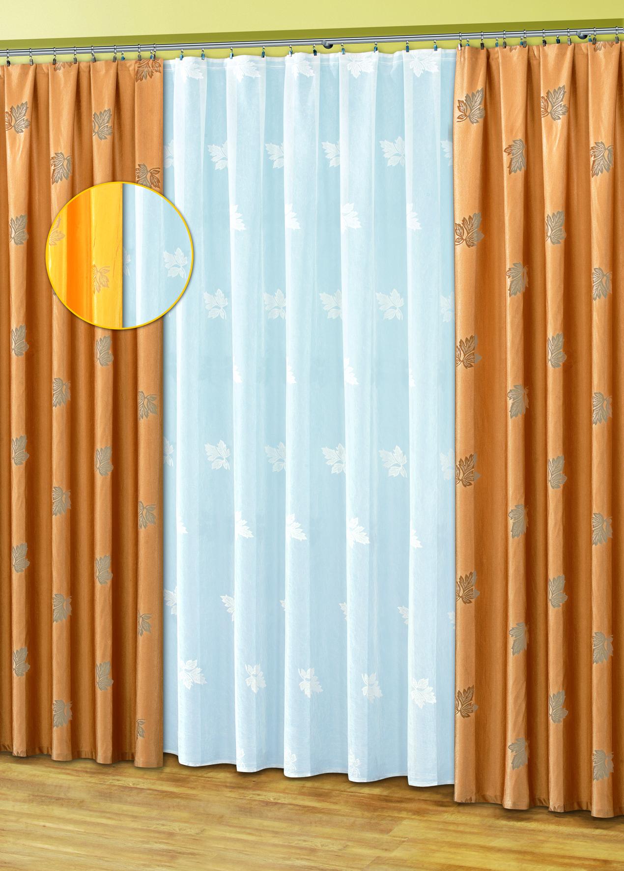 Комплект штор HAFT 250*500+170*250*2. 50110/25050110/250Комплект штор XAFT 250*500+170*250*2. 50110/250 Материал: 100% п/э, размер: 250*500+170*250*2, цвет: бежево-золотой