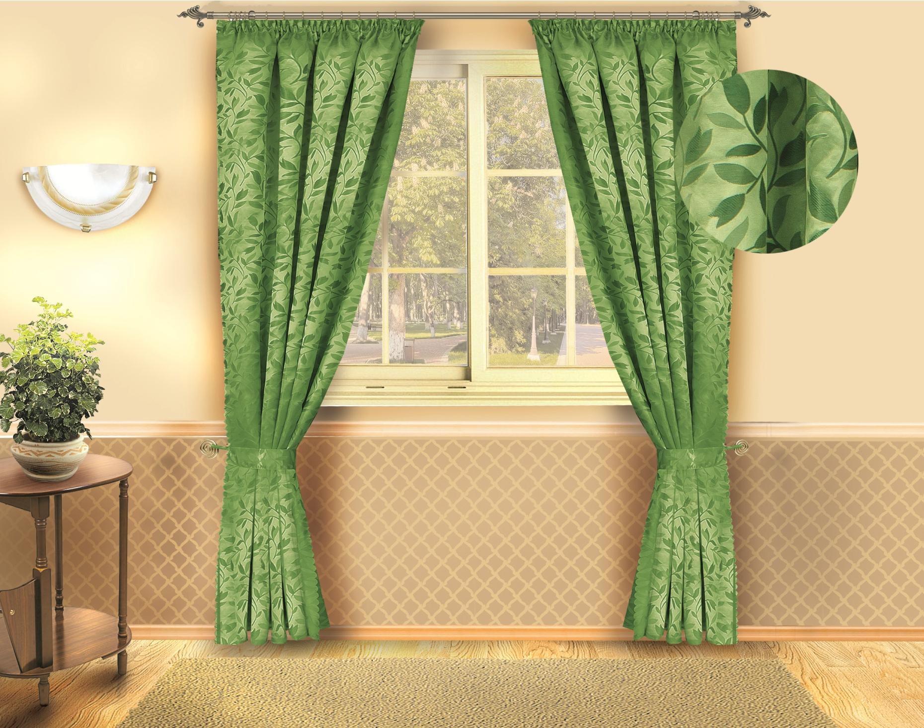 Комплект штор Zlata Korunka, цвет: зеленый, высота 250 см. Б132Б132 зеленыйРоскошный комплект штор Zlata Korunka, выполненный из полиэстера, великолепно украсит любое окно. Комплект состоит из двух штор. Изящный растительный рисунок и приятная цветовая гамма привлекут к себе внимание и органично впишутся в интерьер помещения. Этот комплект будет долгое время радовать вас и вашу семью! В комплект входит: Штора: 2 шт. Размер (Ш х В): 140 см х 250 см.