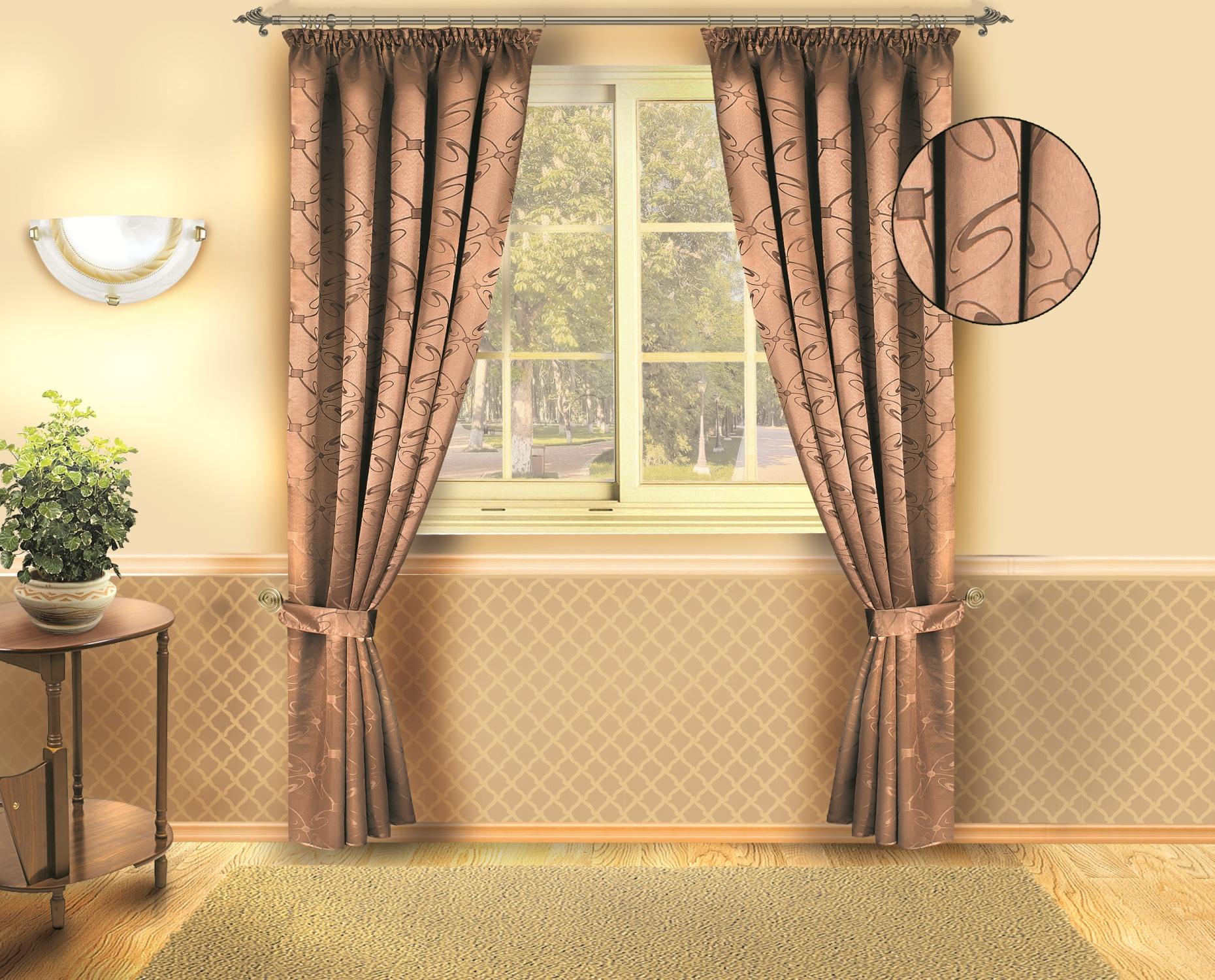 Комплект штор Zlata Korunka 140*250*2. Б133 коричневыйБ133 коричневыйКомплект штор Zlata Korunka 140*250*2. Б133 коричневый Материал: 100% п/э, размер: 140*250*2, цвет: коричневый