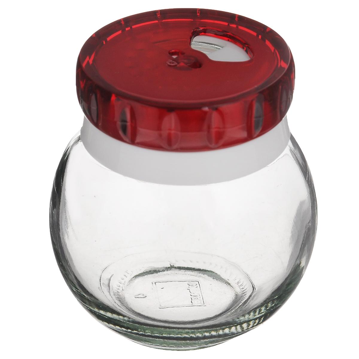Банка для специй Herevin, цвет: красный, 200 мл. 131007-802131007-802_красныйБанка для специй Herevin выполнена из прозрачного стекла и оснащена пластиковой цветной крышкой с отверстиями разного размера, благодаря которым, вы сможете приправить блюда, просто перевернув банку. Крышка снабжена поворотным механизмом, благодаря которому вы сможете регулировать степень подачи специй. Крышка легко откручивается, благодаря чему засыпать приправу внутрь очень просто. Такая баночка станет достойным дополнением к вашему кухонному инвентарю. Можно мыть в посудомоечной машине. Объем: 200 мл. Диаметр (по верхнему краю): 4 см. Высота банки (без учета крышки): 7 см.