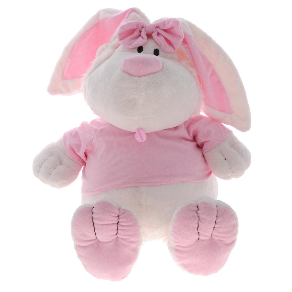 Мягкая игрушка Gulliver Кролик, сидячая, 45 см7-42230Этот чудесный кролик способен привлечь внимание каждого ребенка. Кролик может стать самым близким и любимым другом малыша, который сможет засыпать рядом с доброй и мягкой игрушкой, приятной на ощупь и выполненной из безопасных материалов. Ребенок будет несказанно рад получить в подарок такого милого и прекрасного создания. Мягкие игрушки Gulliver способствуют гармоничному умственному и физическому развитию крохи. В процессе игры у ребенка будет развиваться тактильное восприятие, он научится различать формы и цветовые гаммы. Ребенок будет делиться секретами с игрушкой, вести беседы, тем самым развивая речевые навыки и увеличивая свой словарный запас и кругозор.