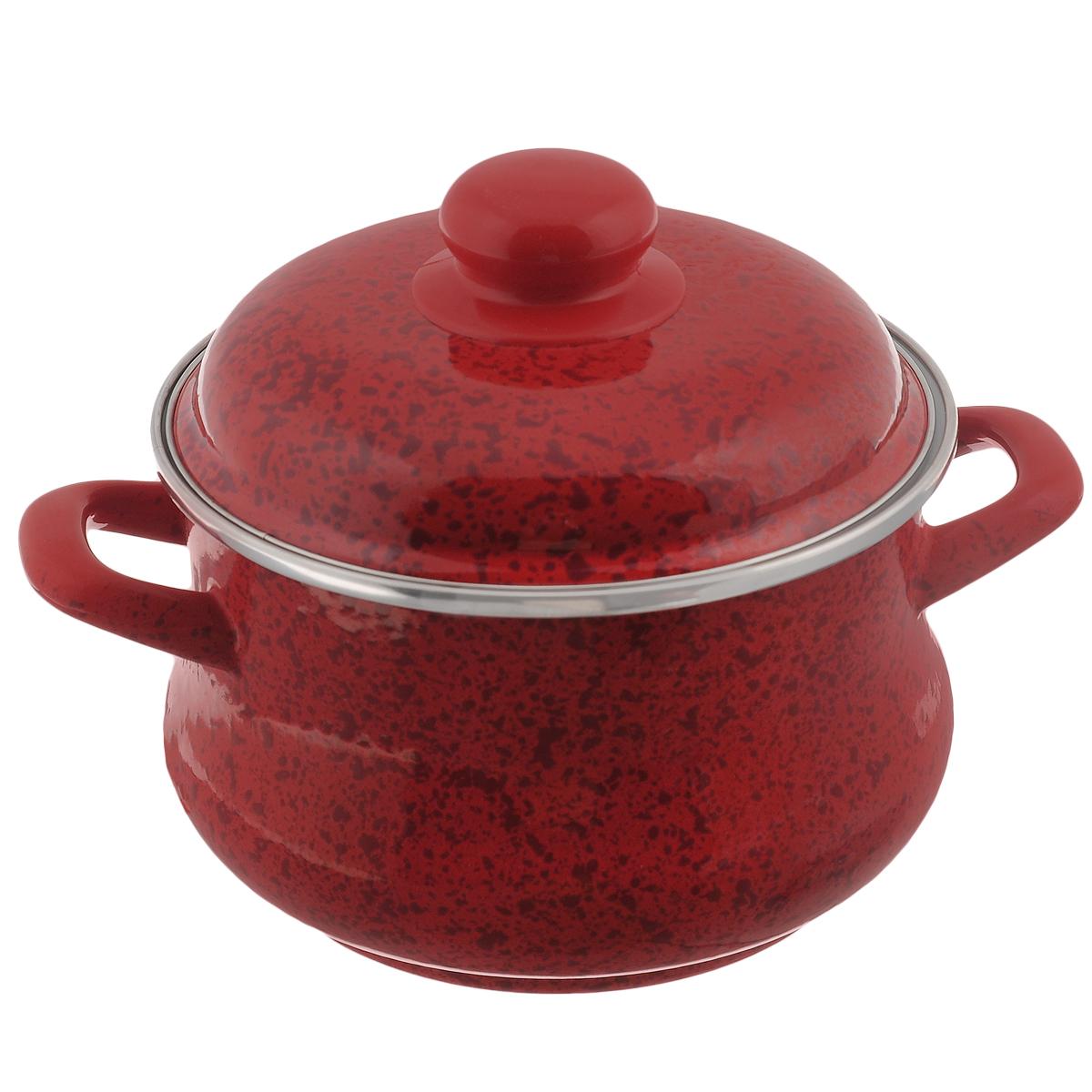 Кастрюля эмалированная Мetrot Рубин, с крышкой, цвет: красный, 2 л82874Кастрюля Мetrot Рубин оригинальной формы Эмина, с расширенными стенками внизу, изготовлена из стали с красным эмалированным покрытием. Внешние стенки оформлены деколью под рубиновый камень. Эмаль инертна и устойчива к пищевым кислотам, не вступает во взаимодействие с продуктами и не искажает их вкусовые качества. Эмалевое покрытие, являясь стекольной массой, не вызывает аллергию и надежно защищает пищу от контакта с металлом. Кроме того, такое покрытие долговечно, оно устойчиво к механическому воздействию, не царапается и не сходит, а стальная основа практически не подвержена механической деформации, благодаря чему срок эксплуатации увеличивается. Кастрюля оснащена двумя удобными ручками и крышкой из стали. Крышка с ободом плотно прилегает к краю кастрюли, предотвращая проливание жидкости и сохраняя аромат блюд. Изделие подходит для всех типов плит, включая индукционные. Можно мыть в посудомоечной машине. Кастрюля Мetrot Рубин - это идеальный подарок...