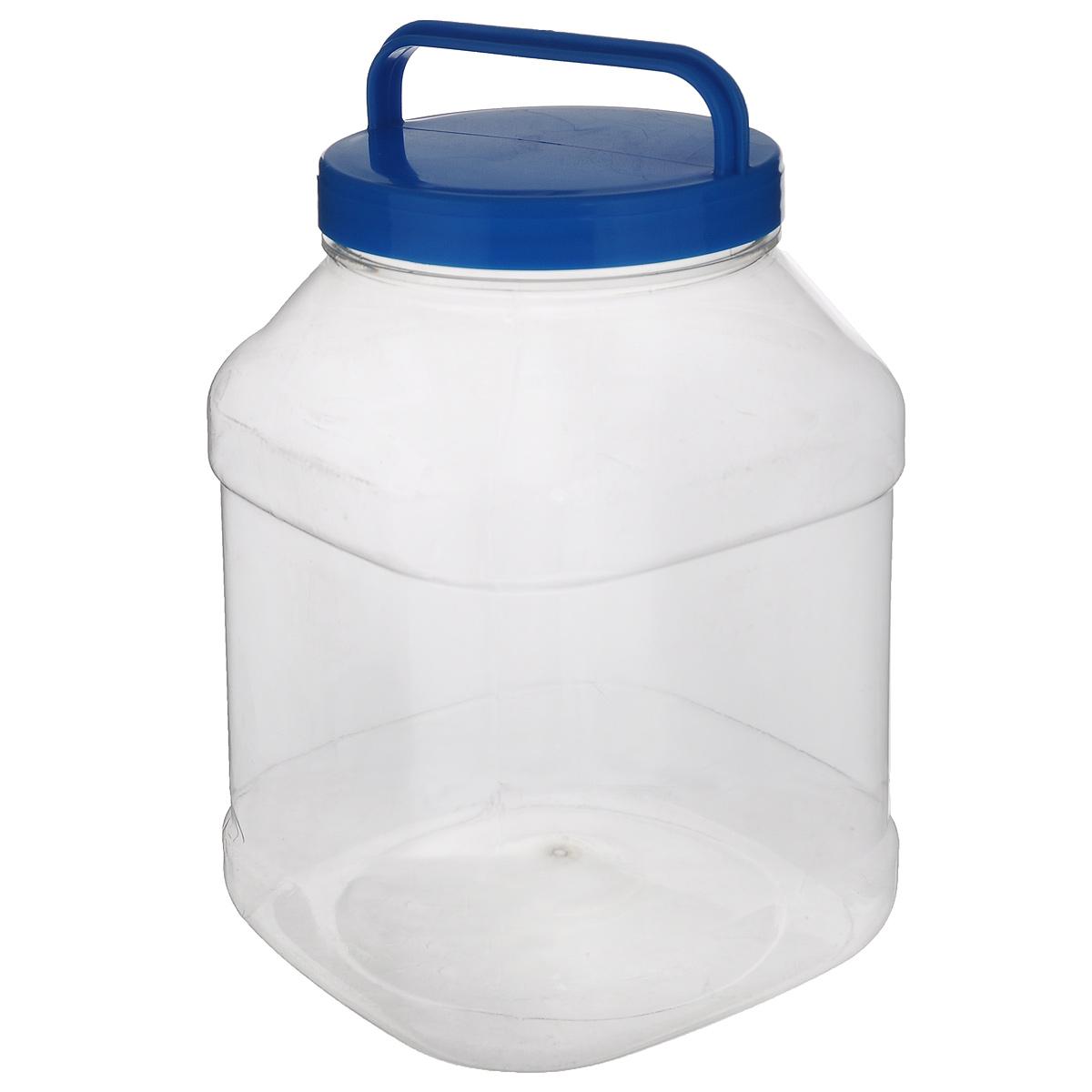 Бидон Альтернатива, прямоугольный, цвет: голубой, 3 лМ463Бидон Альтернатива предназначен для хранения и переноски пищевых продуктов, таких как молоко, вода и т.д. Изделие выполнено из пищевого высококачественного ПЭТ. Оснащен ручкой для удобной переноски. Бидон Альтернатива станет незаменимым аксессуаром на вашей кухне. Объем: 3 л. Диаметр (по верхнему краю): 10,5 см. Высота бидона (без учета крышки): 19 см. Размер дна: 15 см х 15 см.