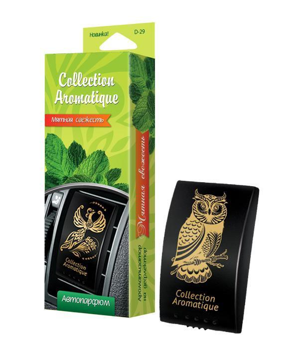Аромат Мятная свежесть D-29 на дефлектор Дороги мира серии Collection Aromatique, box