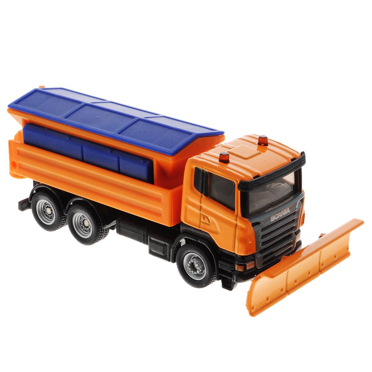 Siku Снегоуборочная машина Aebi-Schmidt1898Коллекционная модель Siku Снегоуборочная машина представляет собой реалистичную модель снегоуборщика, выполненную в мельчайших подробностях. Кабина машинки сделана из металла, кузов из пластика, колеса прорезинены. Отвал поворачивается, крыша кузова снимается, разбрызгиватель поднимается. Коллекционная модель Siku Снегоуборочная машина станет украшением любой коллекции и отличным подарком для ребенка!