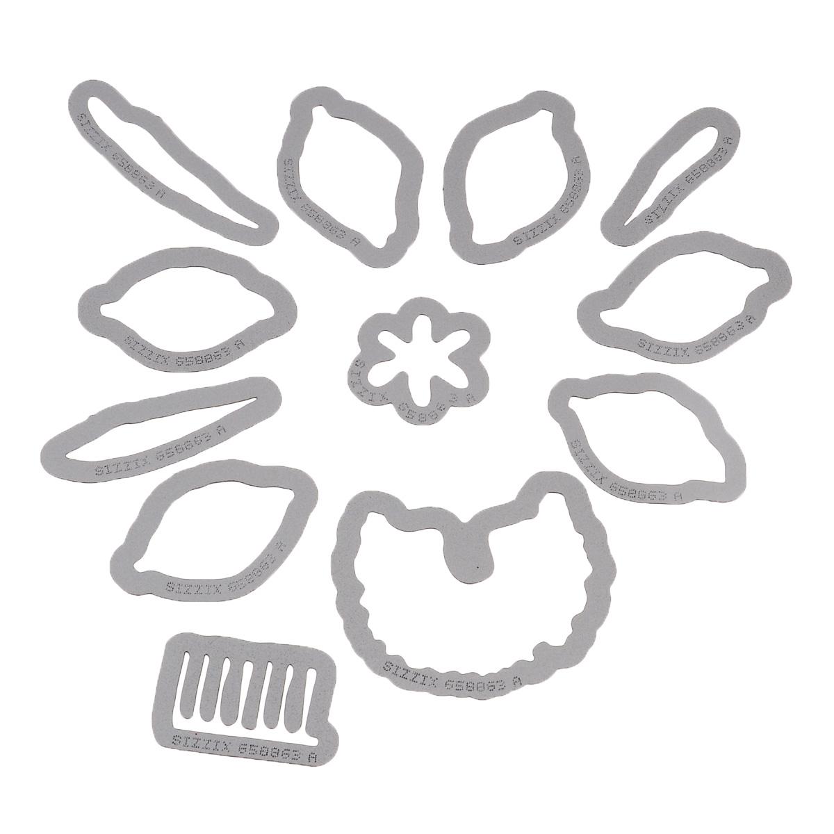 Форма для вырубки Sizzix Цветок. Нарцисс, 12 шт658863С помощью форм для вырубки Sizzix Цветок. Нарцисс можно создать фигурку в виде нарцисса. Формы для вырубки - это определенной формы ножи, обеспечивающие форму вырубной фигуры. В комплект входит 12 форм, выполненных из металла в виде составляющих частей нарцисса. Они режут бумагу, картон и ткань. Формы станут незаменимыми при создании скрап-страничек, открыток и конвертов с резными декоративными фигурками и ажурными украшениями. Формы для вырубки разнообразят вашу работу и добавят вдохновения для новых идей. Формы подходят для машинки для вырубки. Средний размер форм: 4 см х 2,8 см. Комплектация: 12 шт.