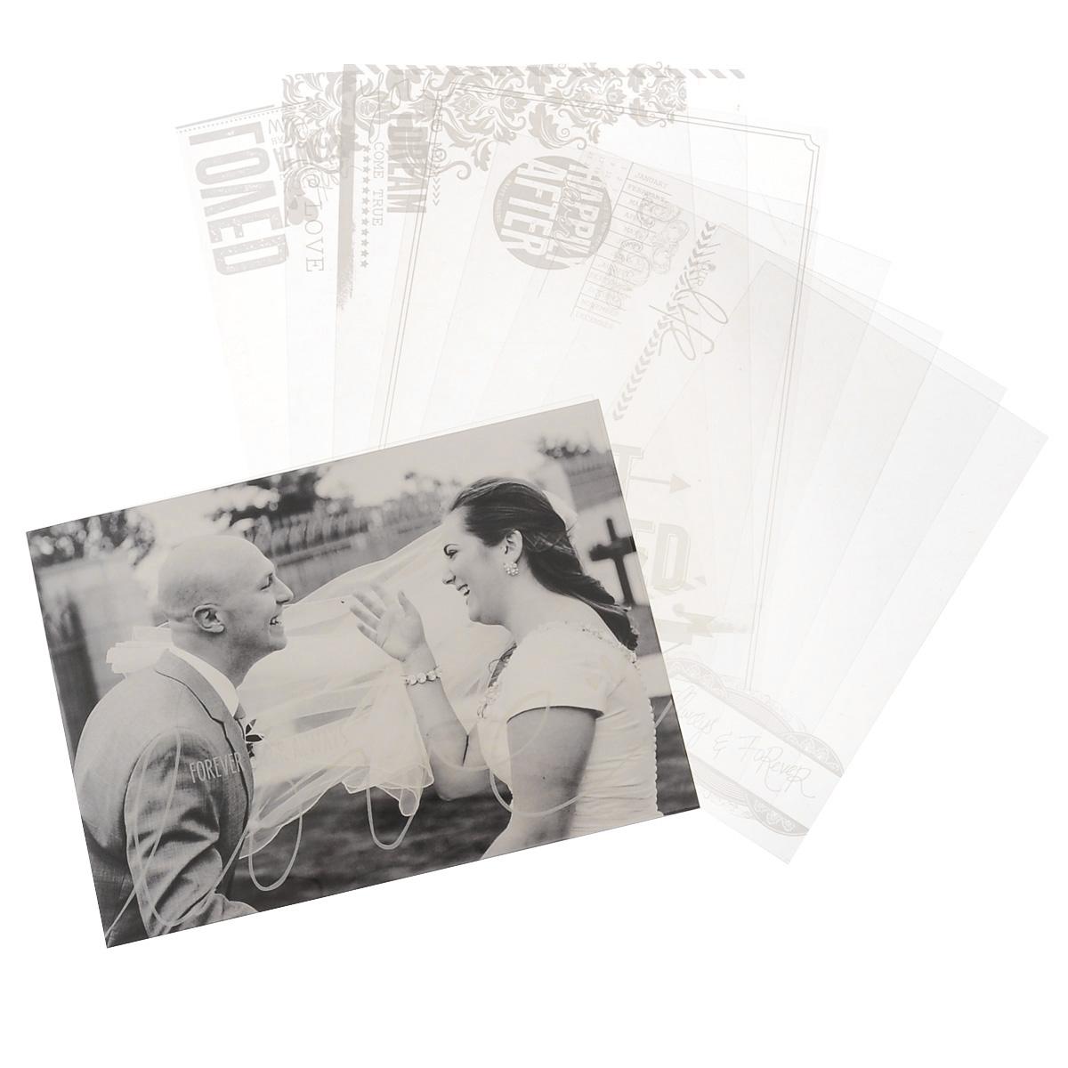 Веллум Teresa Collins Save the Date, 10 штSD1014Веллум Teresa Collins Save the Date прекрасно подойдет для оформления творческих работ в технике скрапбукинга. Веллум - это вид бумаги, который переводится как калька, хотя он гораздо плотнее и более однороден по фактуре. Его можно использовать для украшения фотоальбомов, скрап-страничек, подарков, конвертов, фоторамок, открыток и многого другого. Веллум имеет прозрачную фактуру и оформлен различными надписями, изображениями и узорами. В наборе - 10 листов двух размеров. Скрапбукинг - это хобби, которое способно приносить массу приятных эмоций не только человеку, который этим занимается, но и его близким, друзьям, родным. Это невероятно увлекательное занятие, которое поможет вам сохранить наиболее памятные и яркие моменты вашей жизни, а также интересно оформить интерьер дома. Размер листов: 17,5 см х 12,5 см, 10,2 см х 15,2 см.