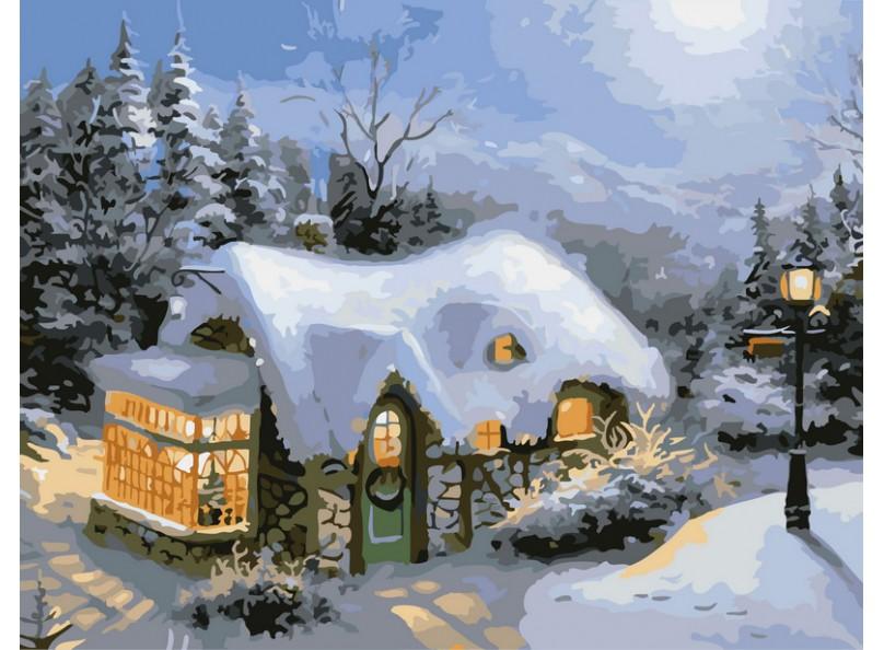 Живопись на цветном холсте Зимний вечер, 40 см х 50 см831-AB-C Зимний вечерЖивопись на цветном холсте Зимний вечер - это набор для раскрашивания по номерам акриловыми красками на холсте. Каждая краска имеет свой номер, соответствующий номеру на картинке. Нужно только аккуратно нанести необходимую краску на отмеченный для нее участок. Таким образом, шаг за шагом у вас получится великолепная картина. С помощью серии наборов Живопись на холсте вы можете стать настоящим художником и создателем прекрасных картин. Вы получите истинное удовольствие от погружения в процесс творчества, и созданные своими руками картины украсят интерьер вашего дома или станут прекрасным подарком. Техника раскрашивания на холсте по номерам дает возможность легко рисовать даже сложные сюжеты. Прекрасно развивает художественный вкус, аккуратность и внимание. В набор входят: - холст на подрамнике с нанесенным цветным рисунком, - контрольный лист с нанесенным рисунком, - набор акриловых красок на водной основе, -...