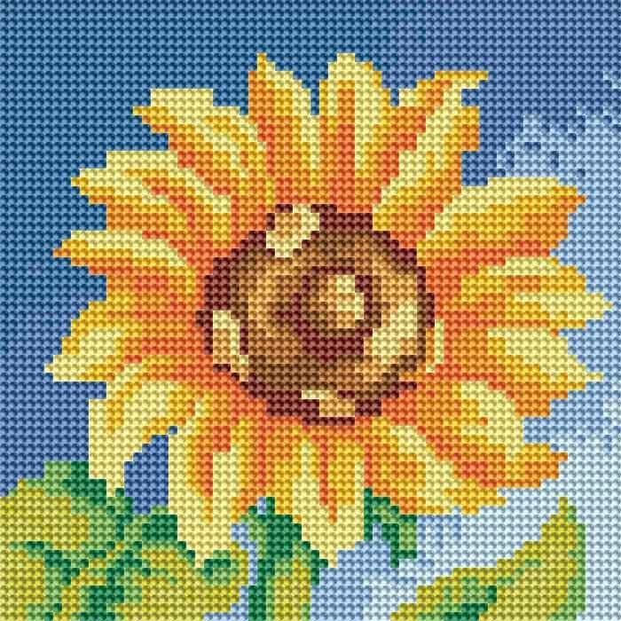 Набор для творчества Алмазная мозаика. Маленький подсолнух, 20 см х 20 см015-RS-R Маленький подсолнухНабор для творчества Алмазная мозаика. Маленький подсолнух поможет вам создать свой личный шедевр - красивую картину, выполненную в мозаичной технике. Каждый камушек выполнен из прочного материала, огранен по типу драгоценных камней и при попадании на грани солнечного или искусственного света образуется мерцающее полотно. Мозаичные картины - это новый вид творчества, который поможет создать прекрасное украшение для вашего дома. В наборе имеется холст с нанесенной схемой. С помощью пинцета стразы размещаются на холст. В результате проявляется рисунок. Для создания картины нужно лишь выложить мозаику по схеме. Вы получите огромное наслаждение от творчества. В набор входит: - основа картины - холст на подрамнике, - комплект страз, размер 2,8 мм, 17 цветов, - пинцет, - пластмассовый лоток для камней, - пластмассовый карандаш для камней, - жидкий клей.