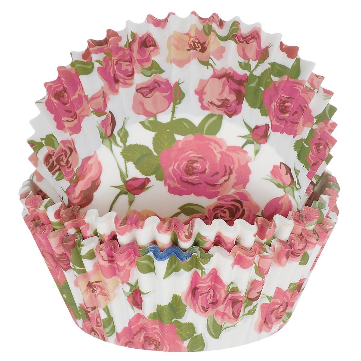 Набор бумажных форм для кексов Dolce Arti Розы, цвет: белый, розовый, диаметр 5 см, 50 штDA080211Набор Dolce Arti Розы состоит из 50 бумажных форм для кексов, оформленных красочным изображением роз. Они предназначены для выпечки и упаковки кондитерских изделий, также могут использоваться для сервировки орешков, конфет и много другого. Для одноразового применения. Гофрированные бумажные формы идеальны для выпечки кексов, булочек и пирожных. Высота стенки: 3 см. Диаметр (по верхнему краю): 7 см. Диаметр дна: 5 см.