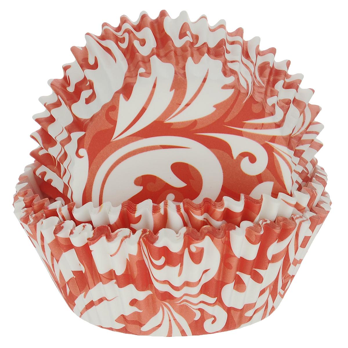 Набор бумажных форм для кексов Dolce Arti Красный узор, цвет: красный, белый, диаметр 7 см, 50 штDA080202Набор Dolce Arti Красный узор состоит из 50 бумажных форм для кексов, оформленных оригинальным узором. Они предназначены для выпечки и упаковки кондитерских изделий, также могут использоваться для сервировки орешков, конфет и много другого. Для одноразового применения. Гофрированные бумажные формы идеальны для выпечки кексов, булочек и пирожных. Высота стенки: 3 см. Диаметр (по верхнему краю): 7 см.