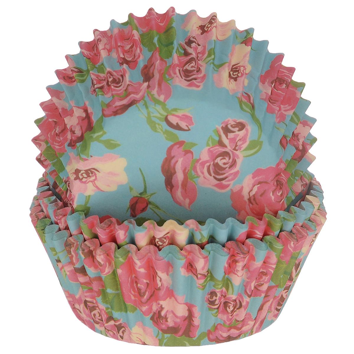 Набор бумажных форм для кексов Dolce Arti Розы, цвет: голубой, розовый, диаметр 5 см, 50 штDA080213Набор Dolce Arti Розы состоит из 50 бумажных форм для кексов, оформленных красочным изображением роз. Они предназначены для выпечки и упаковки кондитерских изделий, также могут использоваться для сервировки орешков, конфет и много другого. Для одноразового применения. Гофрированные бумажные формы идеальны для выпечки кексов, булочек и пирожных. Высота стенки: 3 см. Диаметр (по верхнему краю): 7 см. Диаметр дна: 5 см.