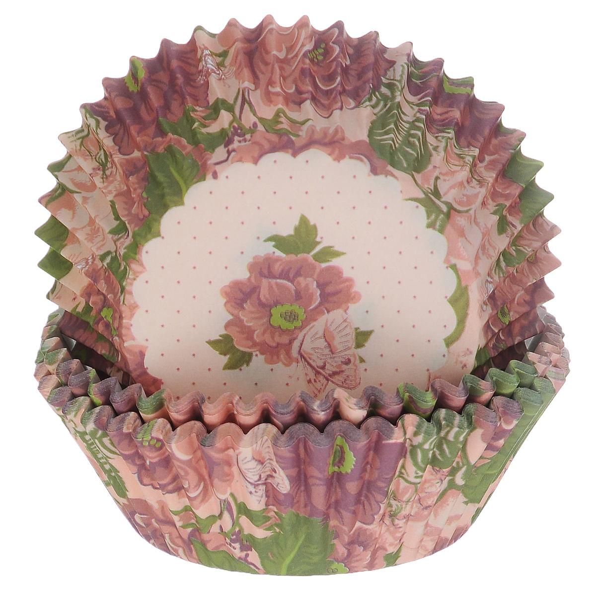 Набор бумажных форм для кексов Dolce Arti Букет, цвет: сиреневый, розовый, диаметр 5 см, 50 штDA080212Набор Dolce Arti Букет состоит из 50 бумажных форм для кексов, оформленных красочным цветочным изображением. Они предназначены для выпечки и упаковки кондитерских изделий, также могут использоваться для сервировки орешков, конфет и многого другого. Для одноразового применения. Гофрированные бумажные формы идеальны для выпечки кексов, булочек и пирожных. Высота стенки: 3 см. Диаметр (по верхнему краю): 7 см.