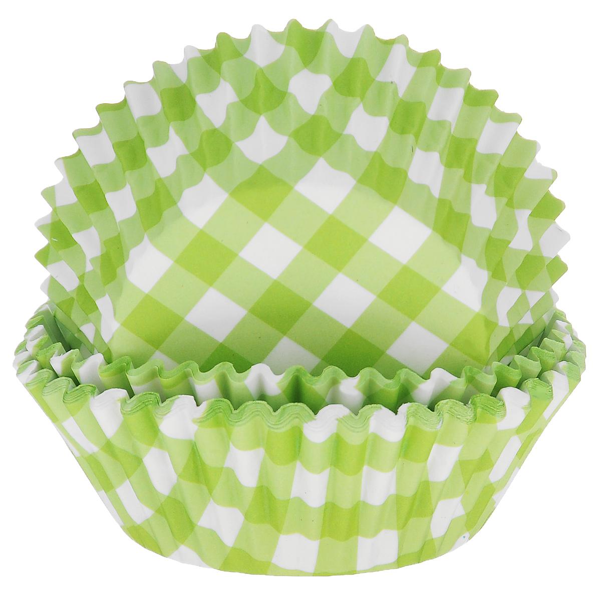 Набор бумажных форм для кексов Dolce Arti Клетка, цвет: зеленый, диаметр 7 см, 50 штDA080208Набор Dolce Arti Клетка состоит из 50 бумажных форм для кексов, оформленных принтом в клетку. Они предназначены для выпечки и упаковки кондитерских изделий, также могут использоваться для сервировки орешков, конфет и много другого. Для одноразового применения. Гофрированные бумажные формы идеальны для выпечки кексов, булочек и пирожных. Высота стенки: 3 см. Диаметр (по верхнему краю): 7 см.