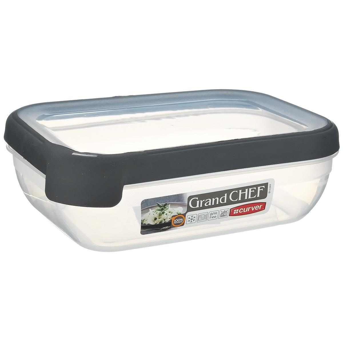 Емкость для заморозки и СВЧ Curver Grand Chef, цвет: серый, 1,2 л07379-673-03Прямоугольная емкость для заморозки и СВЧ Grand Chef изготовлена из высококачественного пищевого пластика (BPA free), который выдерживает температуру от -40°С до +100°С. Стенки емкости и крышка прозрачные. Крышка по краю оснащена силиконовой вставкой, благодаря которой плотно и герметично закрывается, дольше сохраняя продукты свежими и вкусными. Емкость удобно брать с собой на работу, учебу, пикник или просто использовать для хранения пищи в холодильнике. Можно использовать в микроволновой печи и для заморозки в морозильной камере. Можно мыть в посудомоечной машине.