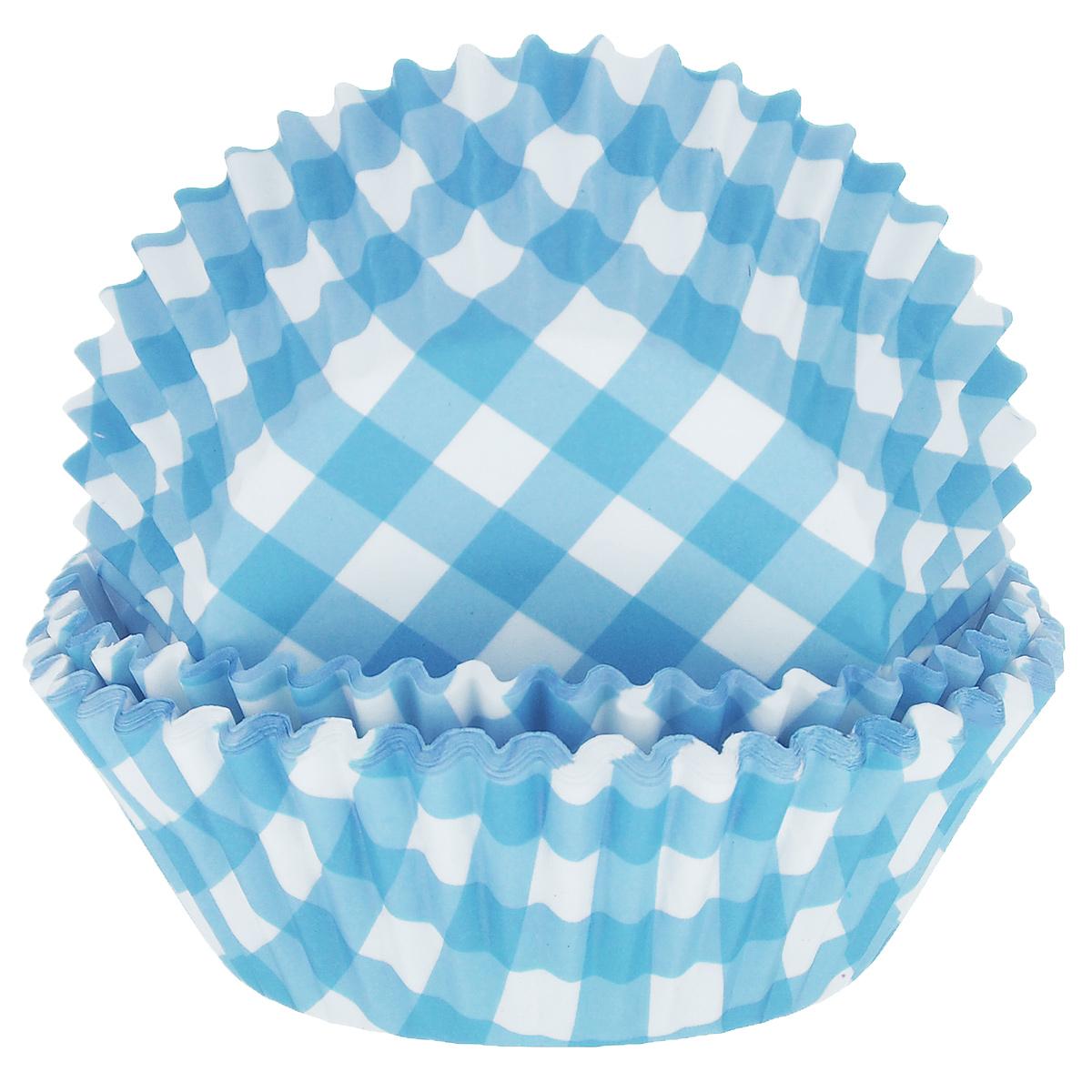 Набор бумажных форм для кексов Dolce Arti Клетка, цвет: голубой, диаметр 5 см, 50 штDA080204Набор Dolce Arti Клетка состоит из 50 бумажных форм для кексов, оформленных принтом в клетку. Они предназначены для выпечки и упаковки кондитерских изделий, также могут использоваться для сервировки орешков, конфет и много другого. Для одноразового применения. Гофрированные бумажные формы идеальны для выпечки кексов, булочек и пирожных. Высота стенки: 3 см. Диаметр (по верхнему краю): 7 см. Диаметр дна: 5 см.