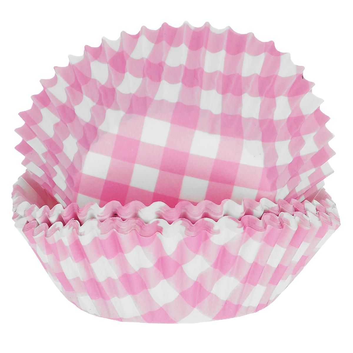 Набор бумажных форм для кексов Dolce Arti Клетка, цвет: розовый, диаметр 5 см, 50 штDA080206Набор Dolce Arti Клетка состоит из 50 бумажных форм для кексов, оформленных принтом в клетку. Они предназначены для выпечки и упаковки кондитерских изделий, также могут использоваться для сервировки орешков, конфет и много другого. Для одноразового применения. Гофрированные бумажные формы идеальны для выпечки кексов, булочек и пирожных. Высота стенки: 3 см. Диаметр (по верхнему краю): 7 см.