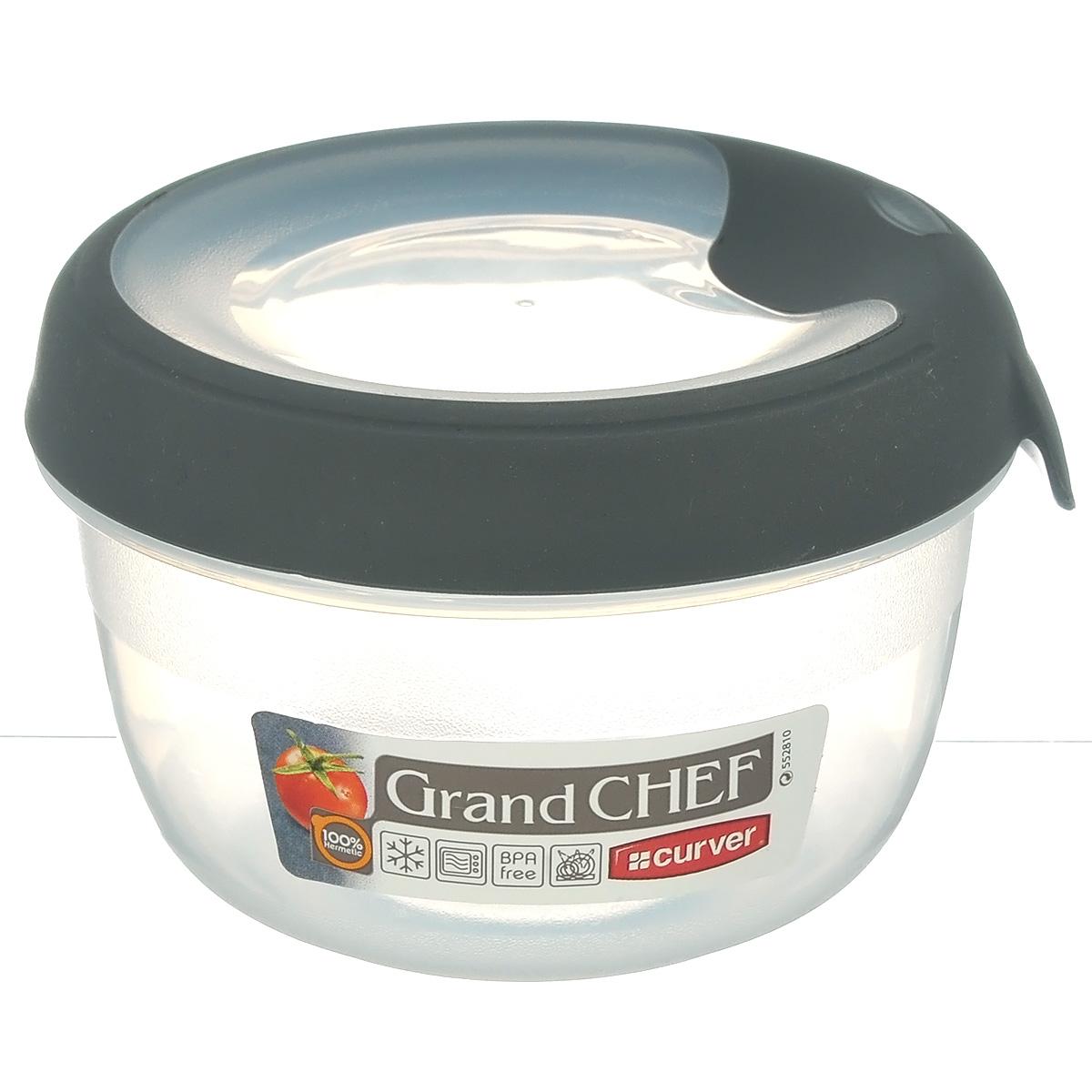 Емкость для заморозки и СВЧ Curver Grand Chef, цвет: серый, 0,25 л00018-673-00Круглая емкость для заморозки и СВЧ Grand Chef изготовлена из высококачественного пищевого пластика (BPA free), который выдерживает температуру от -40°С до +100°С. Стенки емкости и крышка прозрачные. Крышка по краю оснащена силиконовой вставкой, благодаря которой плотно и герметично закрывается, дольше сохраняя продукты свежими и вкусными. Емкость удобно брать с собой на работу, пикник, дачу, в поход или просто использовать для хранения пищи в холодильнике. Можно использовать в микроволновой печи и для заморозки в морозильной камере. Можно мыть в посудомоечной машине.