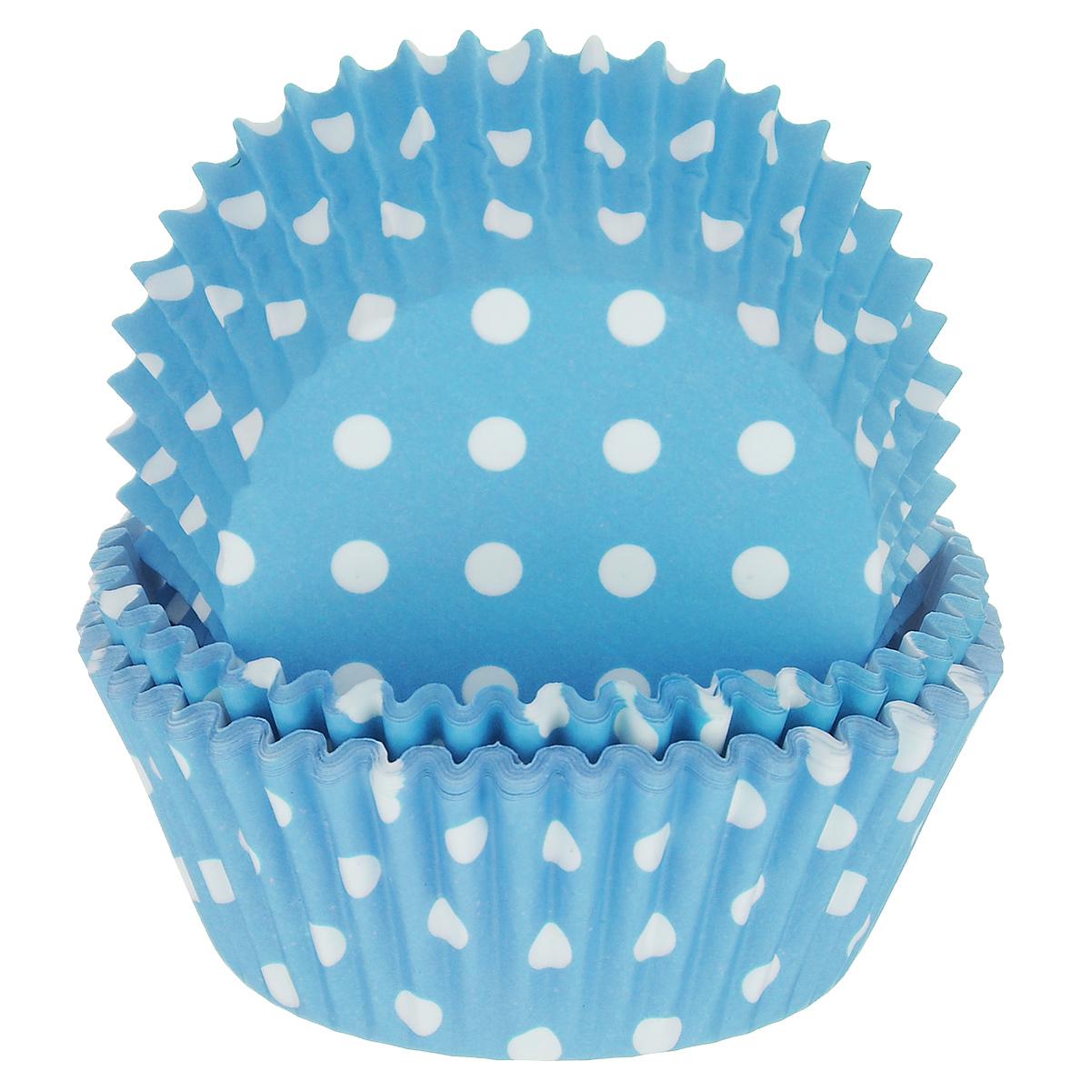 Набор бумажных форм для кексов Dolce Arti Горошек, цвет: голубой, диаметр 5 см, 50 штDA080203Набор Dolce Arti Горошек состоит из 50 бумажных форм для кексов, оформленных принтом в горох. Они предназначены для выпечки и упаковки кондитерских изделий, также могут использоваться для сервировки орешков, конфет и много другого. Для одноразового применения. Гофрированные бумажные формы идеальны для выпечки кексов, булочек и пирожных. Высота стенки: 3 см. Диаметр (по верхнему краю): 7 см. Диаметр дна: 5 см.