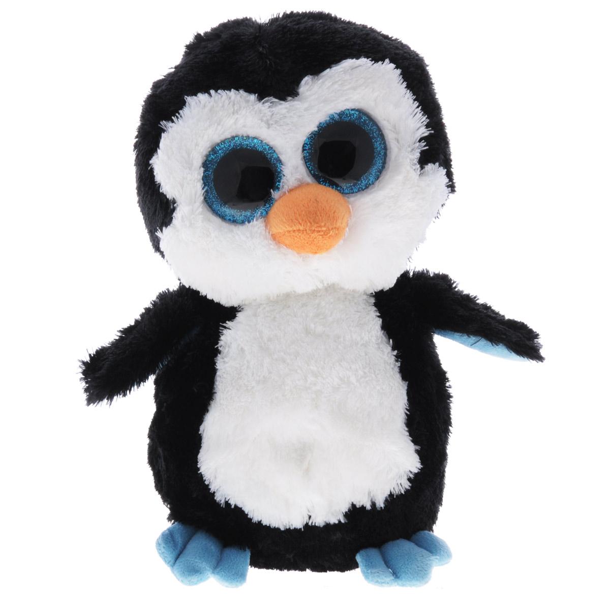 Мягкая игрушка Beanie Boos Пингвин Waddles, 23 см36904Очаровательная мягкая игрушка Beanie Boos Пингвин Waddles, выполненная в виде милого пингвина, непременно вызовет улыбку и симпатию и у детей, и у взрослых. Трогательный пингвин с выразительными пластиковыми глазками выполнен из высококачественного текстильного материала с набивкой из синтепона. Специальные гранулы, также используемые при набивке игрушки, способствуют развитию мелкой моторики рук малыша. Как и все игрушки серии Beanie Boos, пингвин изготовлен вручную с любовью и вниманием к деталям. Удивительно мягкая игрушка принесет радость и подарит своему обладателю мгновения нежных объятий и приятных воспоминаний. Великолепное качество исполнения делают эту игрушку чудесным подарком к любому празднику.
