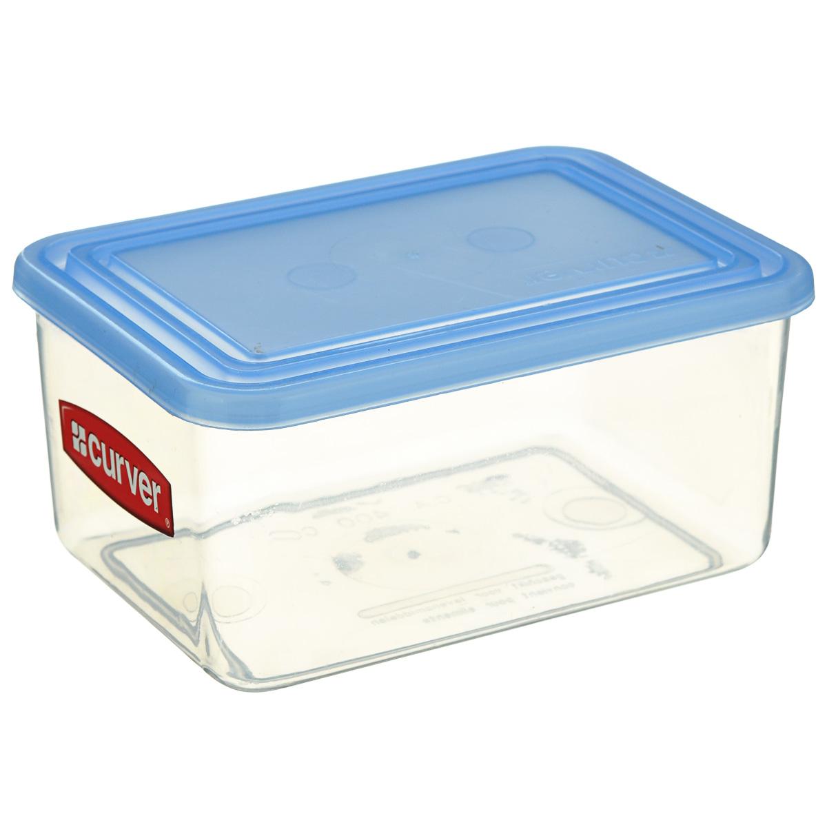Емкость для заморозки и СВЧ Curver, цвет: голубой, 4 л03875-084-66Емкость для заморозки и СВЧ Curver изготовлена из высококачественного пищевого пластика. Стенки емкости прозрачные, а крышка цветная. Она плотно закрывается, дольше сохраняя продукты свежими. Емкость удобно брать с собой на пикник, отдых на природе и дачу, а также использовать для хранения пищи в холодильнике. Можно использовать в микроволновой печи и для заморозки в морозильной камере.