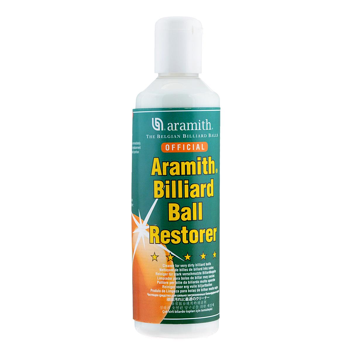 Средство для реставрации шаров Aramith Ball Restorer, 250 мл05382Средство Aramith Ball Restorer предназначено для удаления сильного загрязнения, следов мела и жира. Позволяет удалять самые стойкие загрязнения и вернуть бильярдным шарам первоначальный блеск. Подходит для чистки шаров как из фенолформальдегидной смолы, так и для шаров из полиэстера. Средство можно использовать после каждой игры, ведь чистота шаров – залог безупречно точного удара.