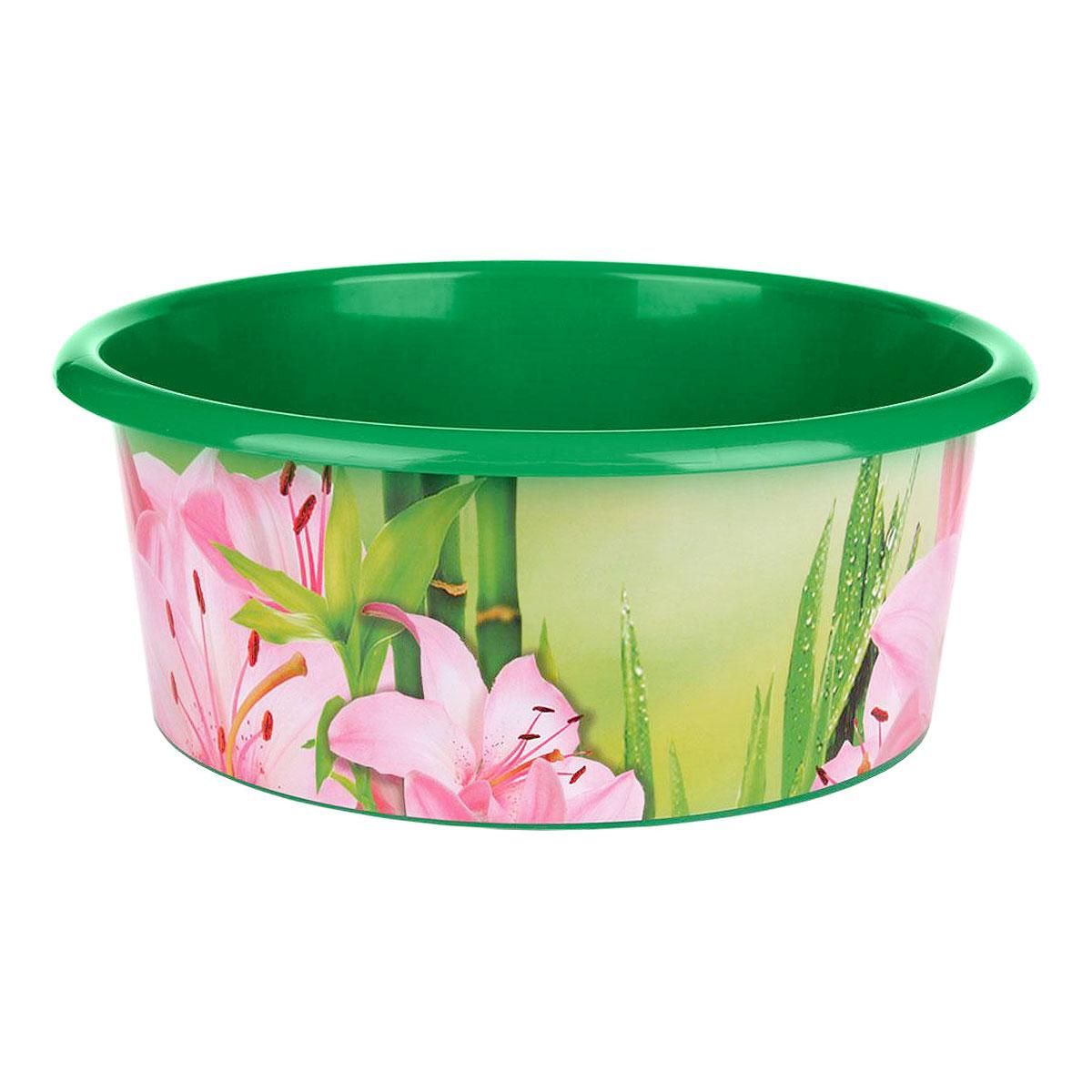 Таз Марлен, цвет: зеленый, 15 лМ2474Таз Марлен изготовлен из высококачественного пластика. Он выполнен в классическом круглом варианте. По бокам имеются углубления, которые обеспечивают удобный захват. Таз предназначен для стирки и хранения разных вещей. Он пригодится в любом хозяйстве.