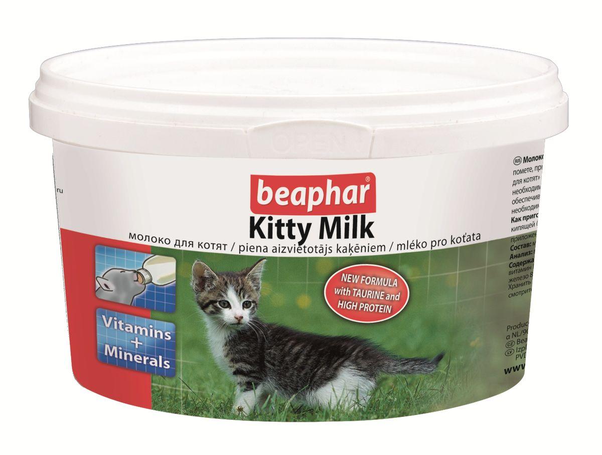 Молочная смесь Beaphar Kitty Milk, для котят, 200 г13151Молочная смесь Beaphar Kitty Milk - полноценная замена материнского молока для осиротевших, брошенных или потерявшихся котят, котят рожденных в многочисленном помете, при отъеме от груди, и как дополнительное кормление для беременных и кормящих самок, больных или выздоравливающих взрослых животных. Молочная смесь может быть использована, как основное кормление для котят с рождения до 35 дней, или как дополнительное, как для котят, так и для их мам при необходимости, а также для кошек во время беременности или кормления котят, увеличивая выработку натурального молока. Коровье молоко не полностью обеспечивает котят необходимым количеством протеина и жиров. Молочная смесь Beaphar Kitty Milk - это полноценная замена материнского молока, содержащая все необходимые питательные вещества и жиры в правильном соотношении, и все необходимые аминокислоты, витамины, минералы и микроэлементы. Белки, содержащиеся в смеси сделаны в особой, легко усваиваемой форме, что является большим...