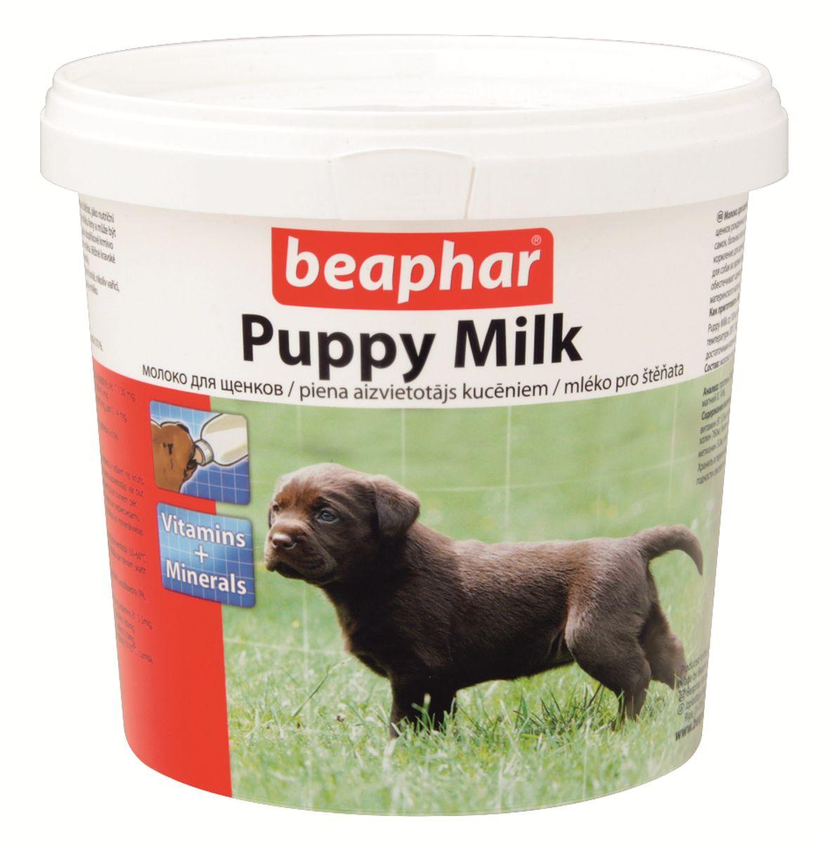 Молочная смесь Beaphar Puppy Milk, для щенков, 500 г19000Молоко для щенков Beaphar Puppy Milk сделано из легко усваиваемой сыворотки и очень близко по составу и вкусу к натуральному молоку самки. Молочная смесь Beaphar Puppy Milk - это полноценная замена материнского молока для осиротевших, брошенных или потерявшихся щенков, щенков рожденных в многочисленном помете, при отъеме от груди и как дополнительное кормлении для беременных и кормящих самок, больных или выздоравливающих взрослых животных. Смесь может быть использована как основное кормление для щенков с рождения до 35 дней. Увеличивает выработку натурального молока. Содержит все необходимые белки, жиры, витамины и минералы в оптимальном соотношении. Состав: молоко и молочные продукты, масла и жиры, минеральные вещества. Анализ: протеин 24%; клетчатка 0%; жиры 24%, зола 7%; влага 3,5 %; кальций 0,90%, фосфор 0,60%, натрий 0,70%, магний 0,14%, калий 1,30%. Содержание витаминов и минеральных веществ в 1 кг: витамин A 50000 МЕ, витамин D3 2000 МЕ,...