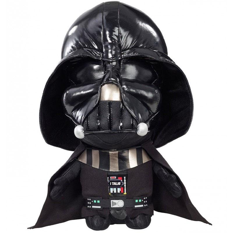 Мягкая озвученная игрушка Star Wars Дарт Вейдер, 38 см00223JМягкая озвученная игрушка Star Wars Дарт Вейдер порадует любого поклонника знаменитой саги Звездные войны. Игрушка выполнена из высококачественного текстильного материала в виде Дарта Вейдера в его каноничном черном шлеме. При нажатии на животик игрушки, она произнесет знаменитые цитаты из кинофильма на английском языке, например Luke, I am your father, I find your lack of faith disturbing, или характерные для персонажа звуки дыхания. Дарт Вейдер - главный антагонист: хитрый и жестокий руководитель армии Галактической Империи, которая правит во всей Галактике. Вейдер выступает как ученик Императора Палпатина. Он использует тёмную сторону Силы, чтобы предотвратить распад Империи и уничтожить Повстанческий Альянс, который стремится восстановить Галактическую Республику. Оригинальная мягкая игрушка непременно поднимет настроение своему обладателю и станет замечательным подарком любому ребенку или взрослому, увлеченному вселенной Звездных войн. ...