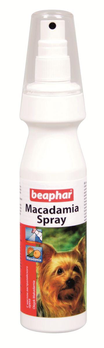 Спрей для собак и кошек Beaphar Macadamia Spray, распутывающий, с маслом австралийского ореха, 150 мл13202Спрей Beaphar Macadamia Spray с маслом австралийского ореха предназначен для сухой кожи и хрупкой поврежденной бесцветной шерсти. Идеальный кондиционер как для длинношерстных, так и для короткошерстных собак и кошек, придающий шерсти мягкость, шелковистость и блеск. Состав: вода, норковый жир, касторовое масло (гидрогенизированное, этоксилированное), 3-бегенойлокси-2-гидрокситриметил аммоний хлорид, 1,2 пропандиол, ароматизатор, 5-бром-5-нитро-1,3-диоксан. Способ применения: ограничения по применению относительно количества отсутствуют, зависит от размера животного. Тщательно распылите на расстоянии 30 см, оставьте в течение 10 минут и хорошо прочешите шерсть. Объем: 150 мл. Товар сертифицирован.