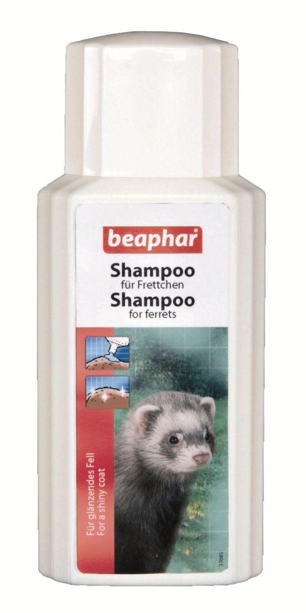 Шампунь для хорьков Beaphar, 200 мл13217Шампунь Beaphar специально разработан для очищения и ликвидации натурального стойкого запаха характерного для хорьков. Мягкий шампунь можно использовать так часто, как необходимо (особенно в летние месяцы). Шампунь не смывает натуральный кожный жир, который защищает кожу, и делает шерсть блестящей и красивой. Шампунь подходит для подготовки зверька к выставкам. Способ применения: намочите шерсть теплой водой и вмасируйте шампунь до появления густой пены. Оставьте на 2-3 минуты, после тщательно смойте водой. Повторите, если необходимо и хорошо высушите. Избегайте попадания в глаза и уши. Объем: 200 мл. Товар сертифицирован.