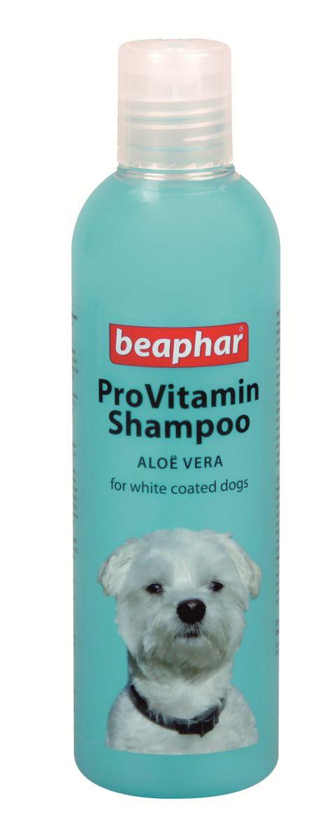 Шампунь для собак белых окрасов Beaphar Pro Vitamin, 250 мл17826Шампунь Beaphar Pro Vitamin специально создан для мягкого ухода за шерстью собак белого и светлого окрасов. Шампунь не имеет отбеливателя, а активизирует натуральный пигмент шерсти, делая ее цвет более насыщенным. Состав шампуня обогащен экстрактом алоэ вера, который защищает кожу и шерсть от потери влаги. После применения шампуня, шерсть начинает лучше расчесываться и приобретает особый блеск. Шампунь нейтрален к РН кожи животных, поэтому может использоваться для мытья собак с чувствительной кожей. Имеет приятный цветочный аромат. Способ применения: шампунь концентрированный и может быть разведен водой 1:1. Количество используемого шампуня зависит от размера собаки. Смочите шерсть теплой водой и нанесите шампунь, мягко массируя, чтобы он вспенился. Оставьте на 2-3 минуты и тщательно смойте. По окончании просушите шерсть полотенцем. Объем: 250 мл. Товар сертифицирован.