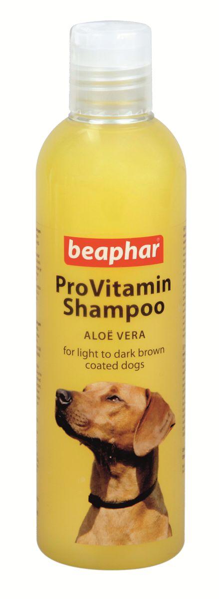 Шампунь для собак коричневых окрасов Beaphar Pro Vitamin, 250 мл17827Шампунь Beaphar Pro Vitamin специально создан для мягкого ухода за шерстью собак рыже-коричневых окрасов. Шампунь активизирует натуральный пигмент шерсти, делая ее цвет более насыщенным. Состав шампуня обогащен экстрактом алоэ вера, который защищает кожу и шерсть от потери влаги. После применения шампуня, шерсть начинает лучше расчесываться и приобретает особый блеск. Шампунь нейтрален к РН кожи животных, поэтому может использоваться для мытья собак с чувствительной кожей. Имеет приятный цветочный аромат. Способ применения: шампунь концентрированный и может быть разведен водой 1:1. Количество используемого шампуня зависит от размера собаки. Смочите шерсть теплой водой и нанесите шампунь, мягко массируя, чтобы он вспенился. Оставьте на 2-3 минуты и тщательно смойте. По окончании просушите шерсть полотенцем. Объем: 250 мл. Товар сертифицирован.