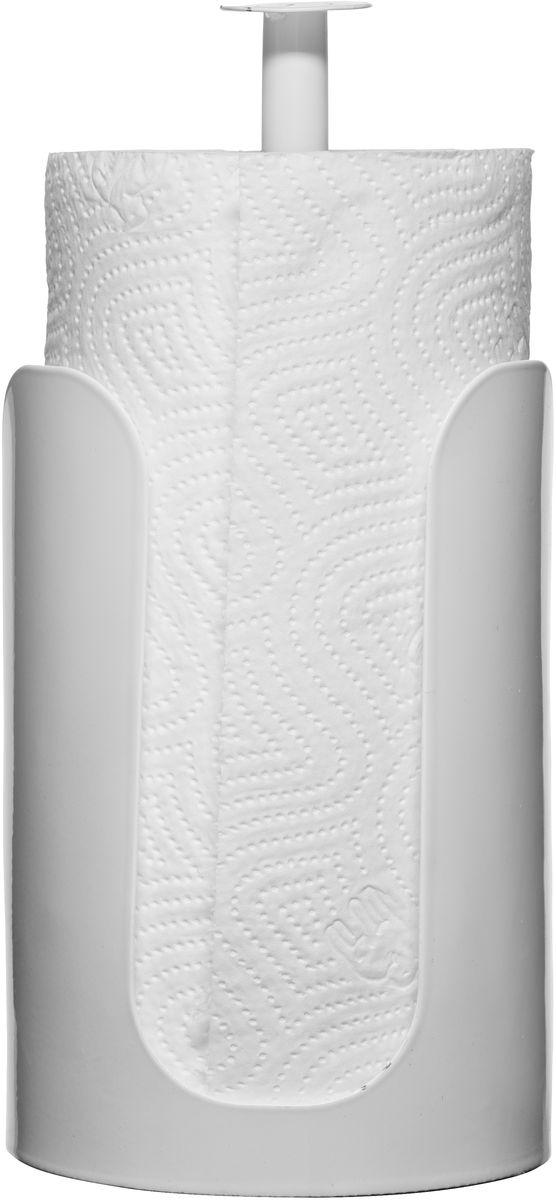 Держатель для бумажных полотенец Sagaform Form, цвет: белый, высота 27 см5016476Держатель для бумажных полотенец Sagaform Form изготовлен из высококачественной стали. Круглое основание держателя и специальная прослойка на дне гарантирует устойчивость. Рулоны накладываются сверху. Вы можете установить его в любом удобном месте. Такой держатель станет полезным аксессуаром в домашнем быту и идеально впишется в интерьер современной кухни. Рулон в комплект не входит. Высота держателя: 27 см. Диаметр основания: 13 см.