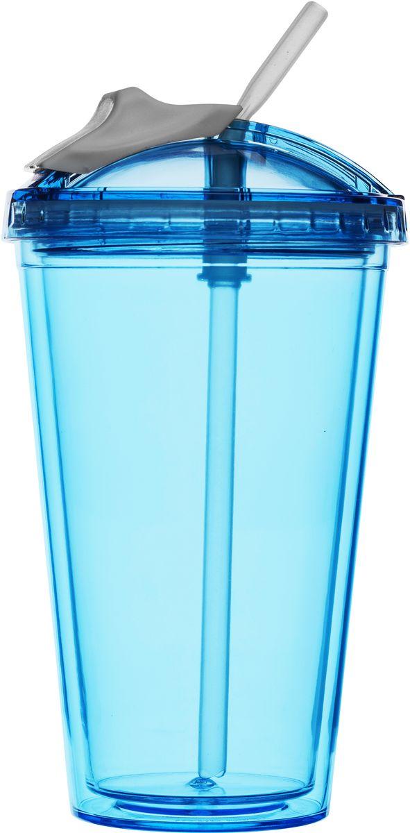 Кружка для смузи Sagaform Fresh, цвет: синий, белый, 550 мл5016654Кружка для смузи Sagaform Fresh изготовлена из высококачественного прозрачного пластика, безопасного для здоровья. Закручивающаяся крышка с герметичным клапаном для питья обеспечивает защиту от проливания. Оптимальный объем кружки позволяет взять небольшую порцию напитка. Безопасна и может использоваться даже ребенком. Идеальна для смузи и любых холодных напитков. Такая кружка - отличное решение для прогулки, пикника, автомобильной поездки, занятий спортом и фитнесом. Диаметр дна: 6,5 см. Высота кружки: 15,5 см. Максимальный объем: 550 мл.