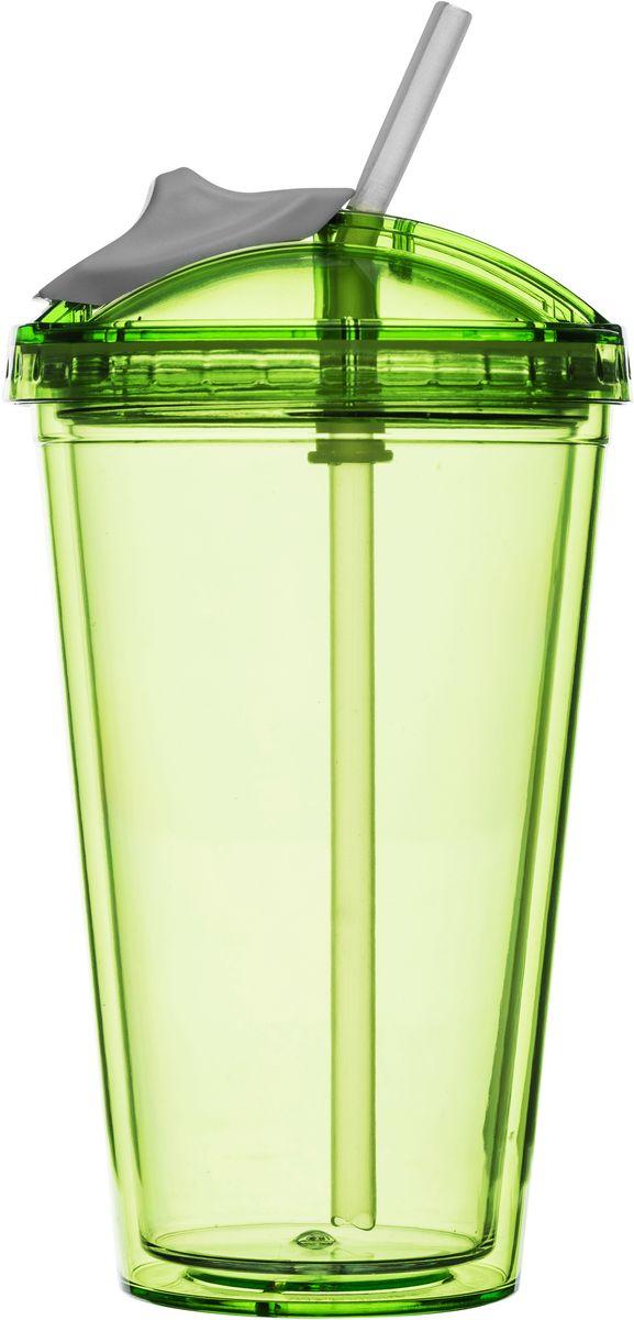Кружка для смузи Sagaform Fresh, цвет: белый, зеленый, 550 мл5016655Кружка для смузи Sagaform Fresh изготовлена из высококачественного прозрачного пластика, безопасного для здоровья. Закручивающаяся крышка с герметичным клапаном для питья обеспечивает защиту от проливания. Оптимальный объем кружки позволяет взять небольшую порцию напитка. Безопасна и может использоваться даже ребенком. Идеальна для смузи и любых холодных напитков. Такая кружка - отличное решение для прогулки, пикника, автомобильной поездки, занятий спортом и фитнесом. Диаметр дна: 6,5 см. Высота кружки: 15,5 см. Максимальный объем: 550 мл.