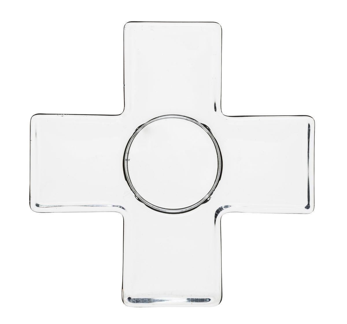 Подсвечник Sagaform, цвет: прозрачный, 12,5 х 2,3 см5017109Подсвечник Sagaform будет особенно радовать хозяйку с зажженными свечами. Подсвечник изготовлен из высококачественного стекла и предназначен для одной свечи, которая устанавливается в специальное отверстие посередине изделия. Такой подсвечник, выполненный в виде креста, позволит вам украсить интерьер дома или рабочего кабинета оригинальным образом. Вы сможете не просто внести в интерьер своего дома элемент необычности, но и создать атмосферу загадочности и изысканности. Оригинальный скандинавский дизайн сделает подсвечник желанным подарком! Диаметр отверстия для свечи: 4 см.