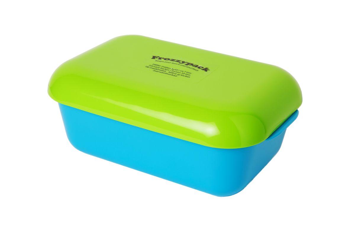 Контейнер Frozzypack, с охлаждающим элементом, цвет: салатовый, голубой, 0,9 л25002Контейнер Frozzypack выполнен из высококачественного пищевого пластика и не содержит BPA, PFOA и парабенов. В крышке контейнера расположен охлаждающий элемент, который поможет сохранить вашу еду прохладной в течение 7 часов при комнатной температуре. Для поддержания низкой температуры в контейнере, крышку необходимо предварительно охладить в морозильной камере в течение 10 часов. Можно мыть при температуре до 120°С и замораживать до -40°С. Подходит для посудомоечной машины. Не использовать крышку в микроволновой печи. Размер контейнера: 19,5 см х 12 см. Высота стенок контейнера: 6 см.